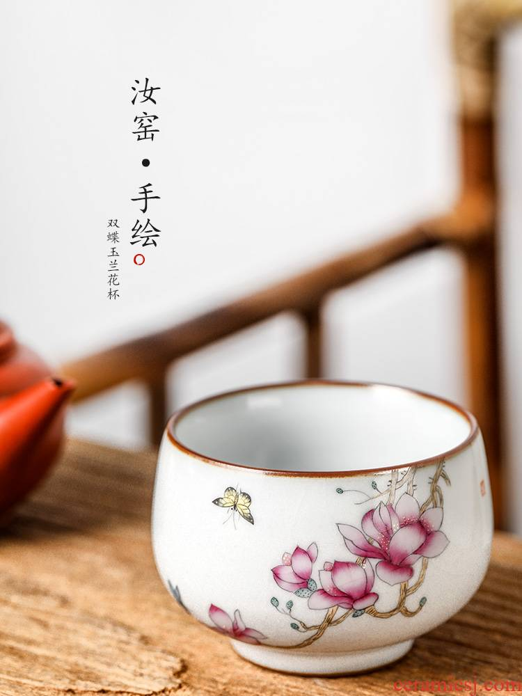 Kung fu master cup jingdezhen hand - made single CPU woman pure manual yulan your up ceramic tea sample tea cup, tea sets