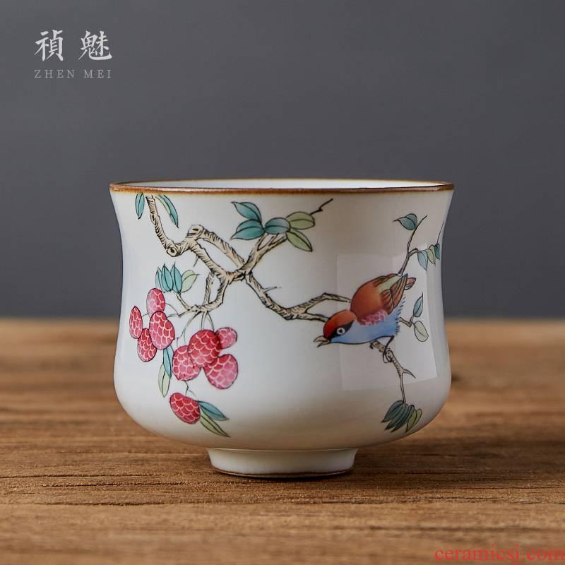 Jingdezhen checking ceramic kilns were all shot incarnate the hand - made kung fu tea cups sample tea cup personal single CPU master CPU