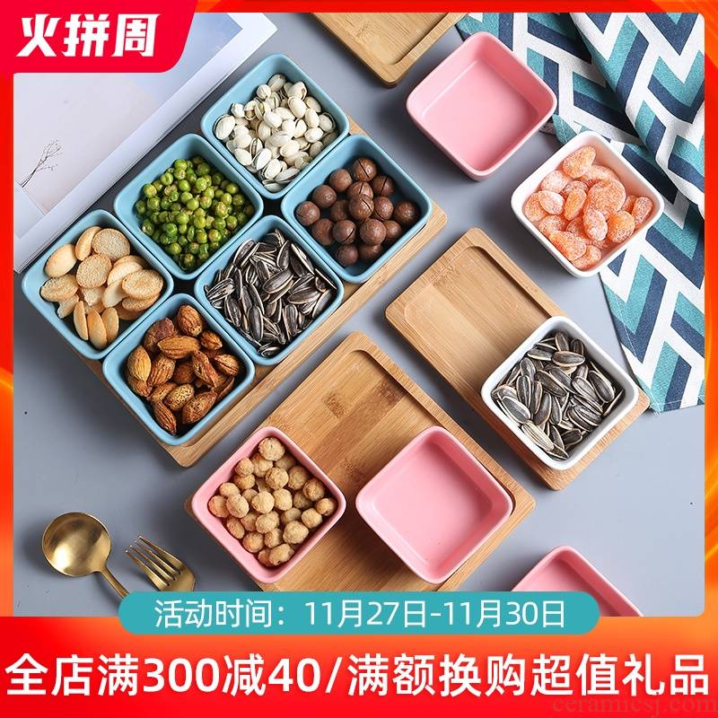 The Nordic idea ceramic snack frame of candy all The 'lads' Mags' including nuts dried fruit platter of fruit snacks flavor dish plate