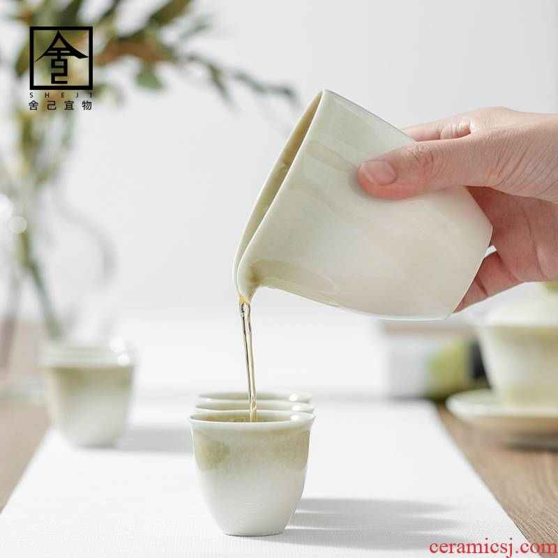 """The Self - """"appropriate plant ash content of jingdezhen ceramics by hand points fair keller of tea ware kung fu tea set Japanese sea. A cup of tea"""