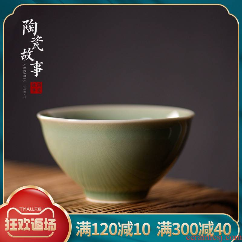 Story of pottery and porcelain teacup master cup single CPU yaoan - hand personal special sample tea cup kung fu small cups