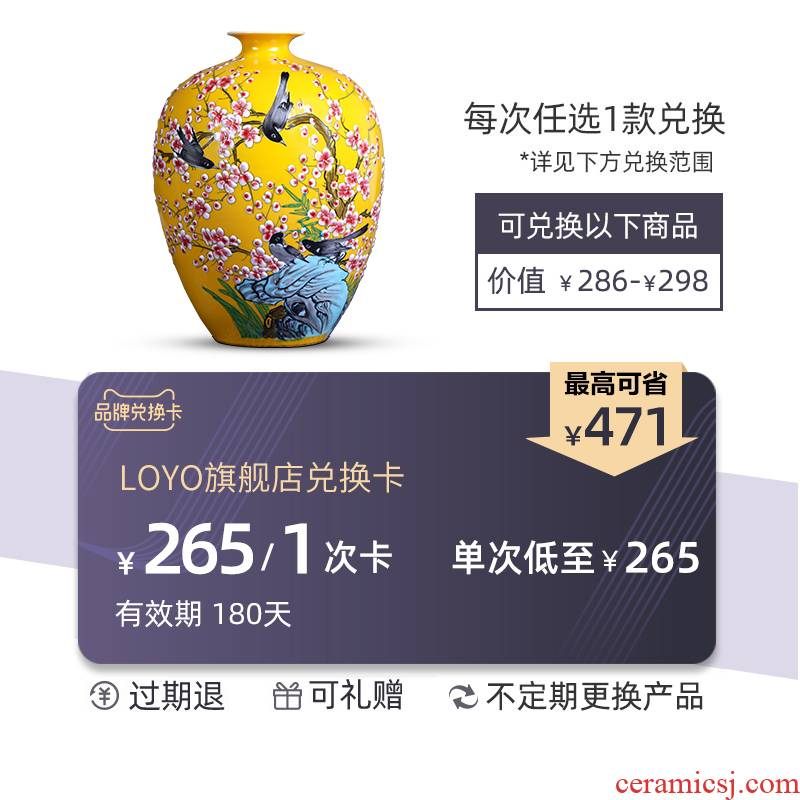 Loyo ceramic vase cash card convertible three superposition (valid for 180 days, not any discount)
