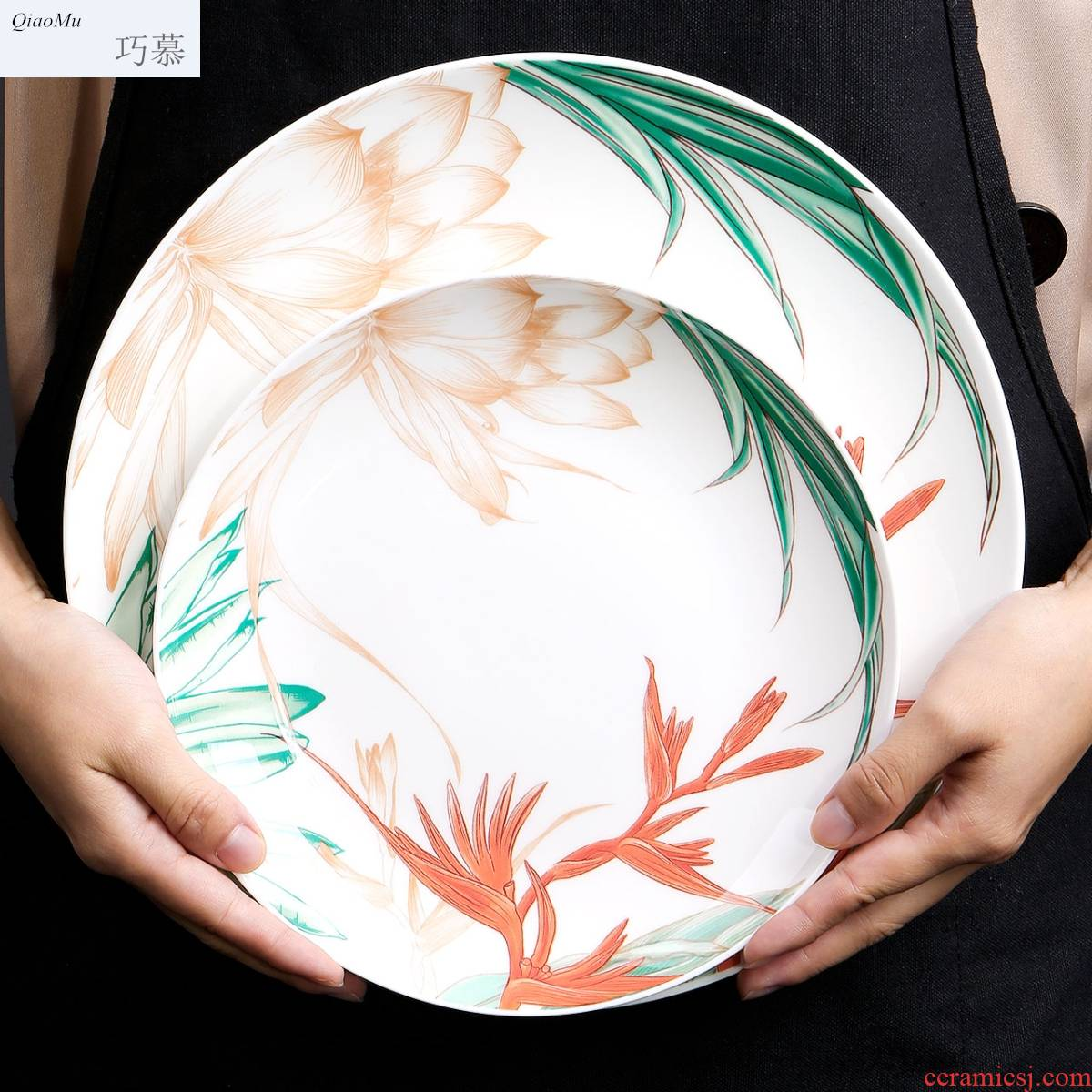 For Chinese ipads porcelain son home opportunely new creative ceramic tableware deep dish dish dish soup plate ipads plates