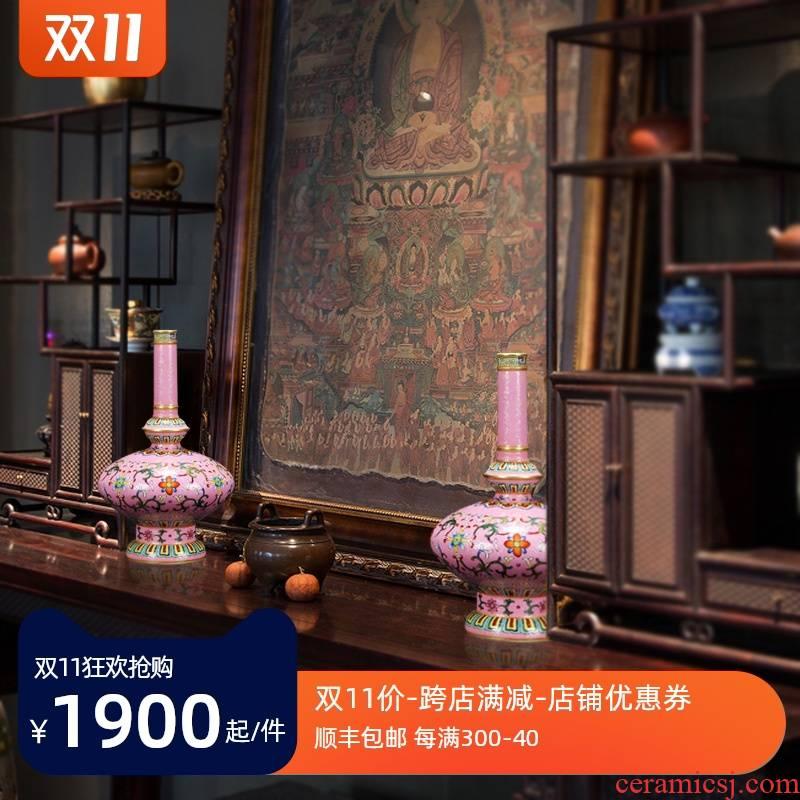 Imitation Ming and the qing broke furnishing articles of jingdezhen porcelain enamel colored enamel based holders of picking a