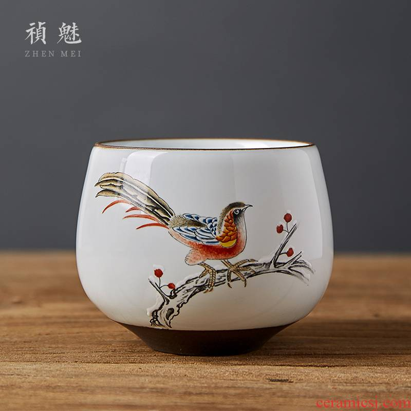 Shot incarnate all hand the up master cup single CPU jingdezhen ceramic hand - made kung fu tea set personal cup sample tea cup