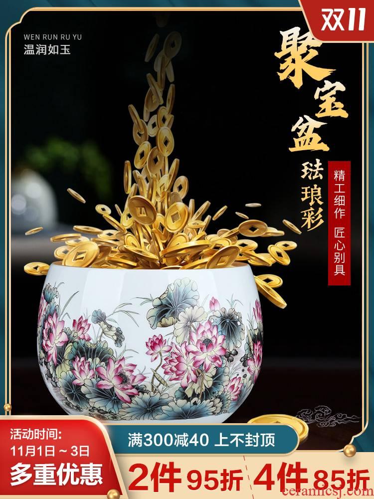 Jingdezhen ceramic lucky cornucopia desktop office sitting room decorates porch and exquisite handicraft furnishing articles