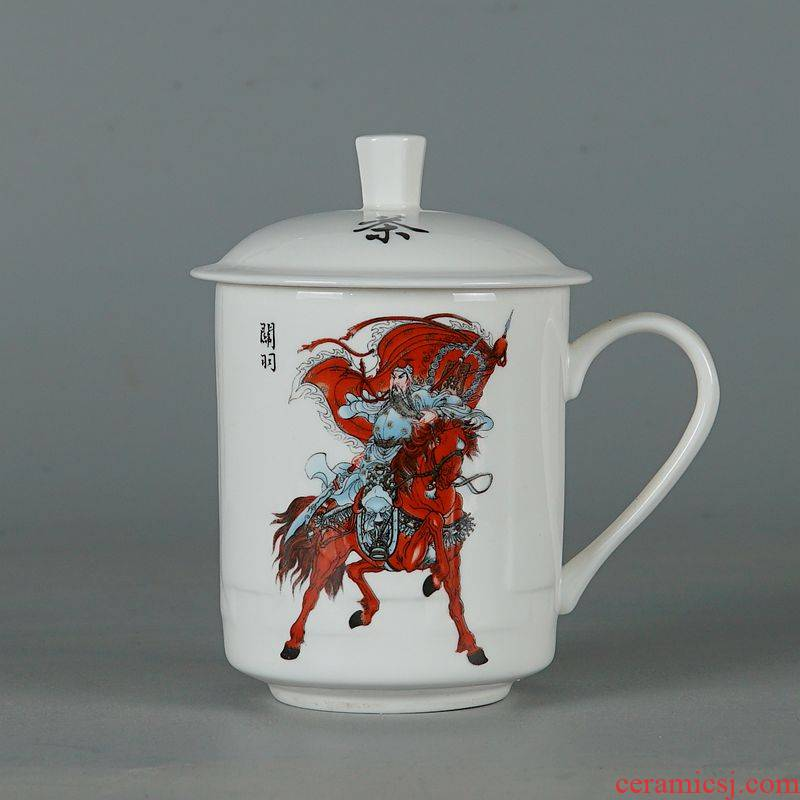 Jingdezhen porcelain ipads with cover cup Iliad figure office cup cup and meeting