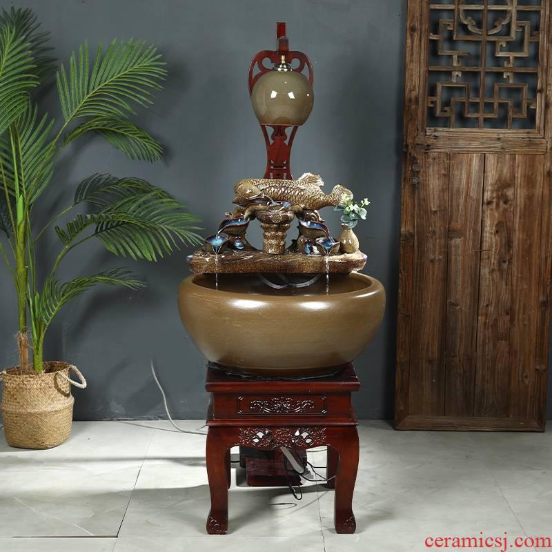 Heavy up jingdezhen Chinese style furnishing articles ceramic filter water aquarium fish farming household indoor goldfish bowl