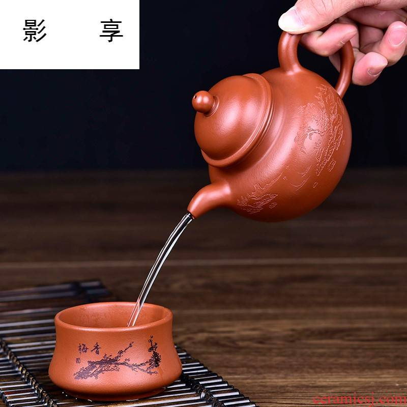 Shadow at yixing teapot manually kung fu tea with ore mud zhu Duo ball are it tea kettle YST
