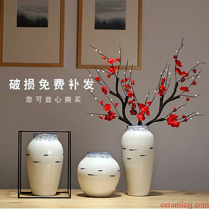 The New Chinese jingdezhen ceramics vase European I and contracted sitting room porch decoration furnishing articles dried flowers flower arrangement