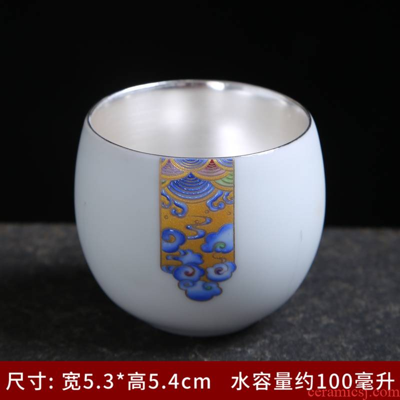 999 sterling silver cup masters cup custom - made manual single master cup custom lettering cups cups white porcelain cup