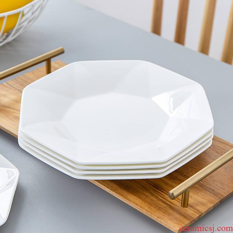 The Nordic idea ipads China web celebrity breakfast steak plate plate light key-2 luxury ceramic tableware ins dinner plate household food dish