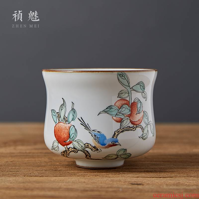Shot incarnate all hand up of jingdezhen ceramic cups hand - made kung fu tea master sample tea cup cup single CPU