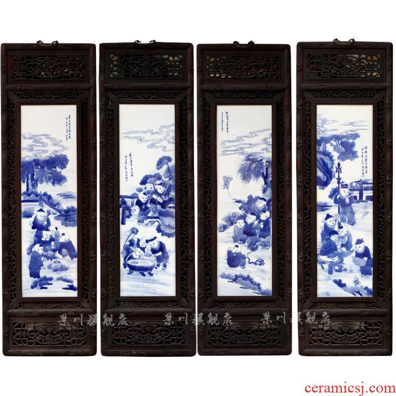 Jingdezhen blue and white porcelain paint ceramic porcelain plate painter hung, hand - drawn characters in sitting room decoration wall act the role ofing