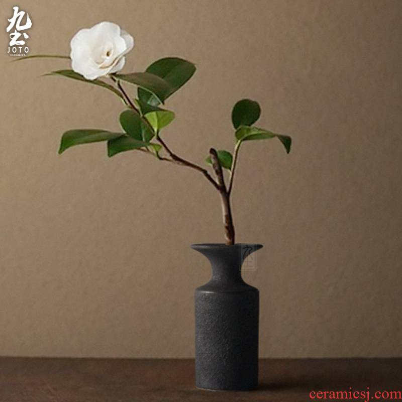 Nine soil ceramic vase furnishing articles I and contracted sitting room tea table of TV ark, flowers, dried flowers, flower arrangement household act the role ofing is tasted