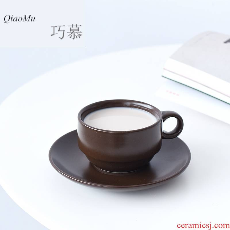 Qiao mu European - style coffee cups and saucers suit ceramic household contracted grace English afternoon tea tea set