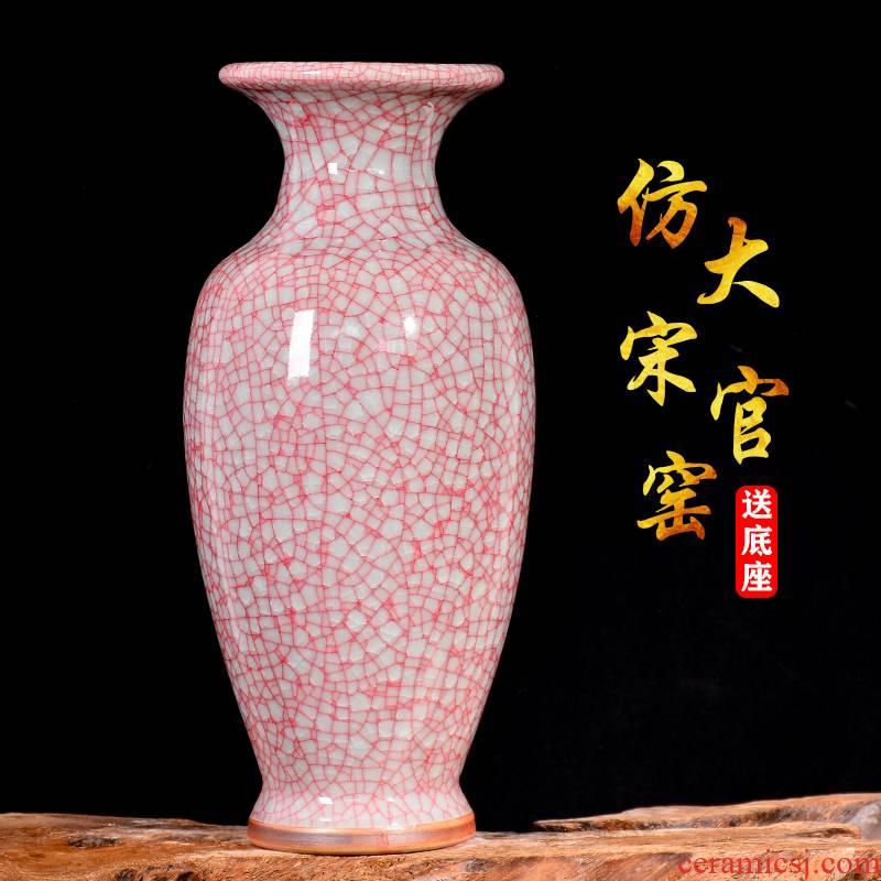 Archaize crack open the slice jun porcelain vase Chinese jingdezhen ceramics sitting room porch TV ark adornment furnishing articles