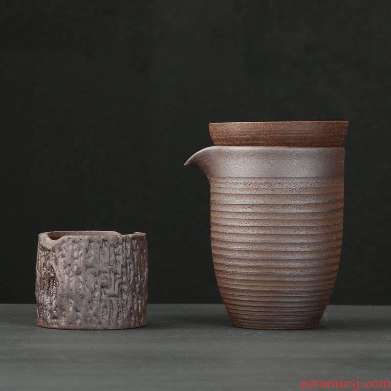 Japanese coarse pottery hand make meditation kung fu tea accessories fair keller undressed ore points tea restoring ancient ways, mud rock zen tea taking