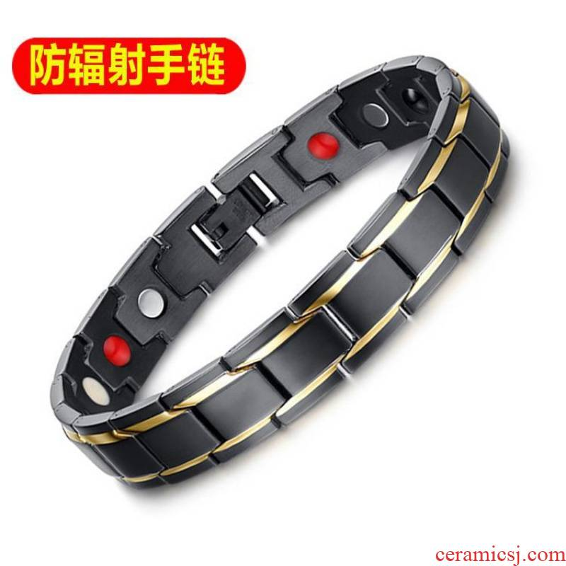 All magnetic therapy health care version of fashionable men and women tungsten steel bracelet ceramic bracelet, Japan and anti - radiation bracelet a birthday present