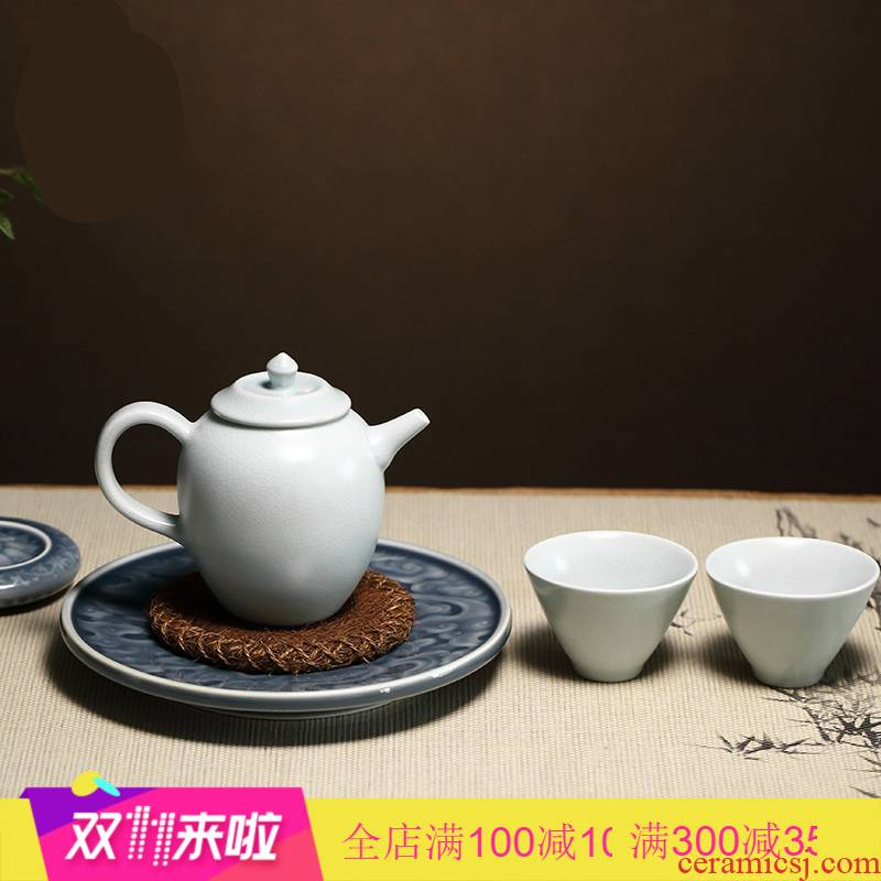 The Poly real boutique scene. Dry plate kunfu tea tea tray was home snack anaglyph pot of jingdezhen ceramic tea set