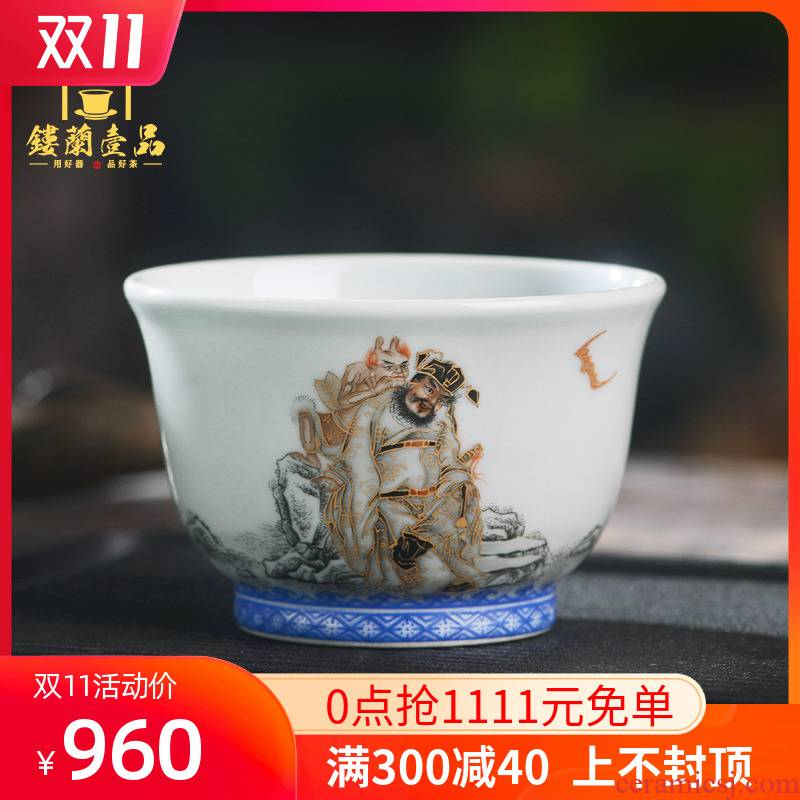 All hand - made color ink paint doors of master cup of jingdezhen ceramics kung fu tea tea bowl cups household single CPU