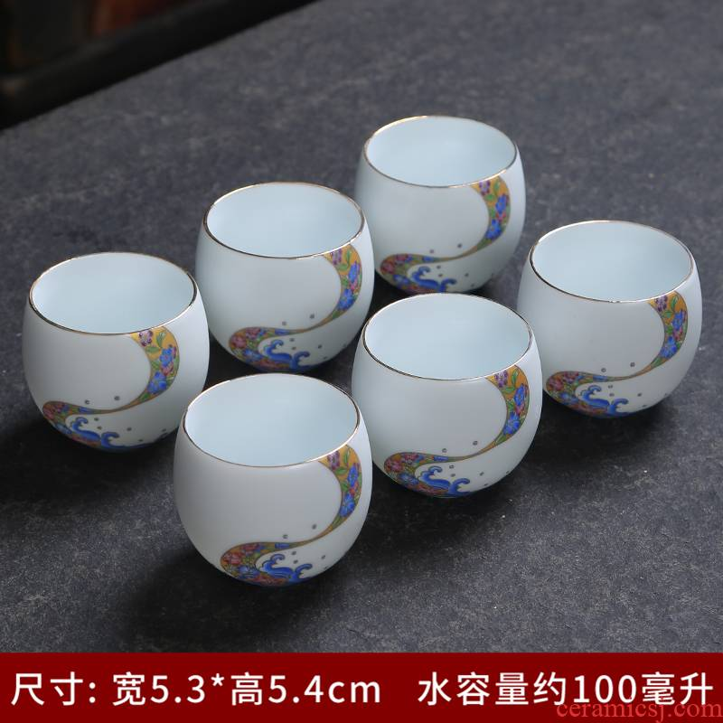Jingdezhen ceramic paint master cup single CPU kung fu tea cups a single blue and white porcelain tea cup
