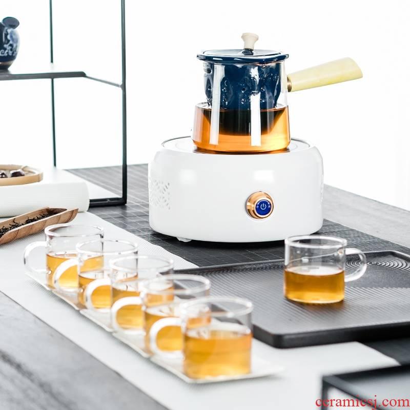 Qiao mu Pyrex cooking pot tea, black tea pu - erh tea side to cook tea, household electrical TaoLu suit
