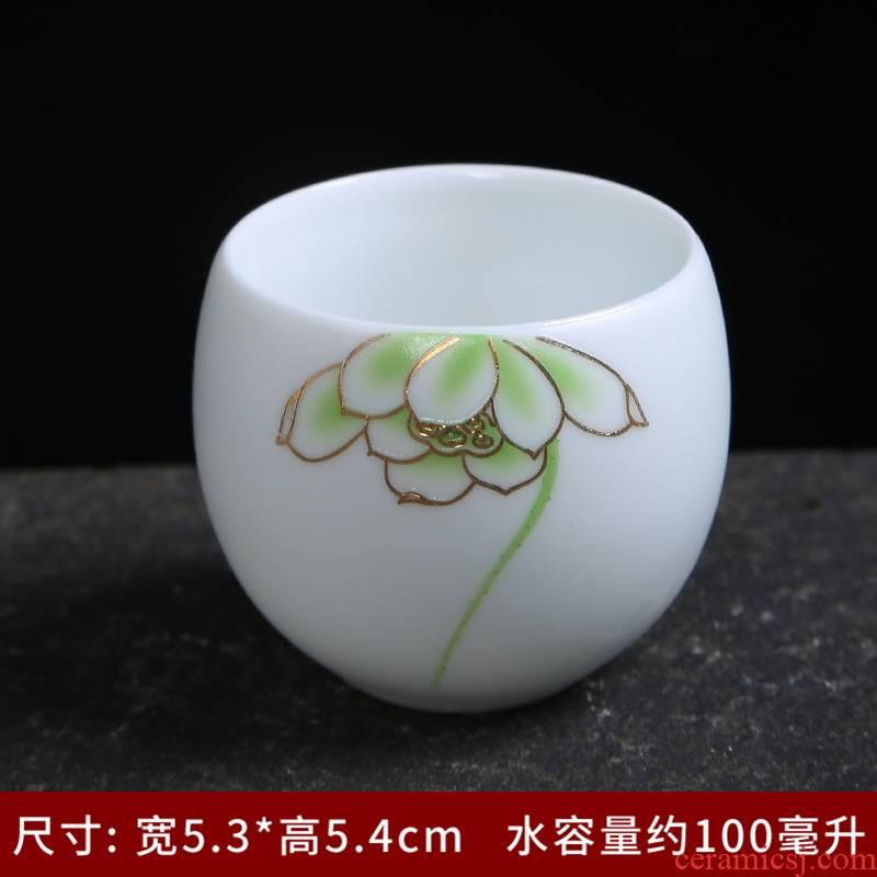 Tasted silver gilding jingdezhen porcelain masters cup single sample tea cup kung fu tea bowl with single glass ceramic tea cups