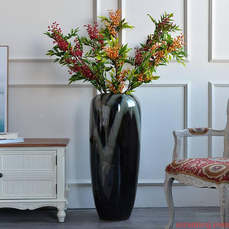 Jingdezhen ceramic vase Nordic large dry flower arranging furnishing articles European I and contracted sitting room key-2 luxury decoration decoration