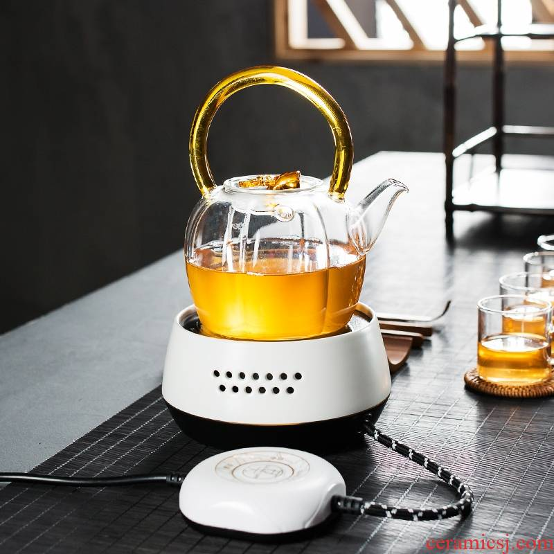 Longed for home opportunely multi - function electric TaoLu more heat resistant glass cooking pot boil water scented tea health tea pot