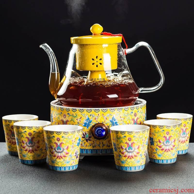 Qiao mu glass tea steamer household automatic the boiled tea, the electric TaoLu black tea pu - erh tea boiling pot teapot suits for