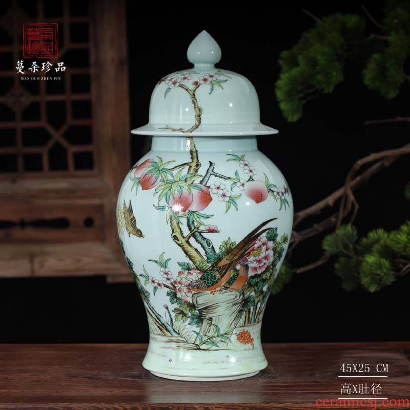 Jingdezhen hand - made pastel flowers imitation the qing general high - grade general yongzheng hand - made general pot