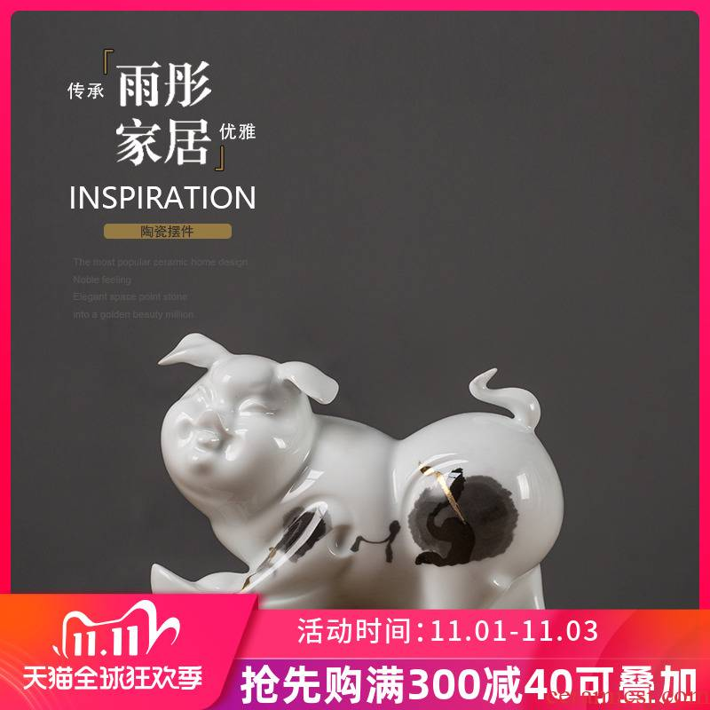 Jingdezhen ceramic pig furnishing articles more than creative home rich small lovely sitting room bedroom desktop decoration