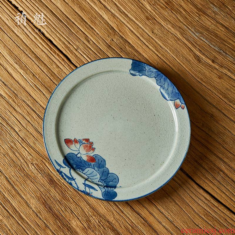 Shot incarnate the hand - made porcelain pot of bearing dry terms sets of jingdezhen ceramics by hand kung fu tea accessories tea tray saucer