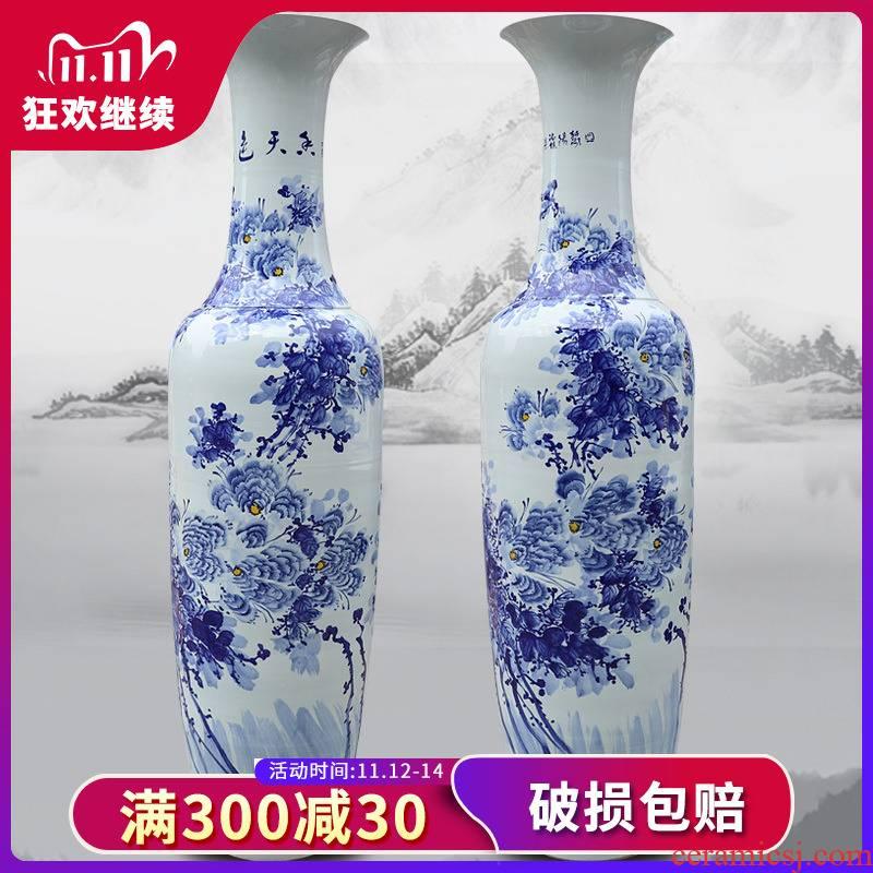 380 hand - made Of porcelain jingdezhen ceramics amusement Of large vases, club villa housewarming hotel opening