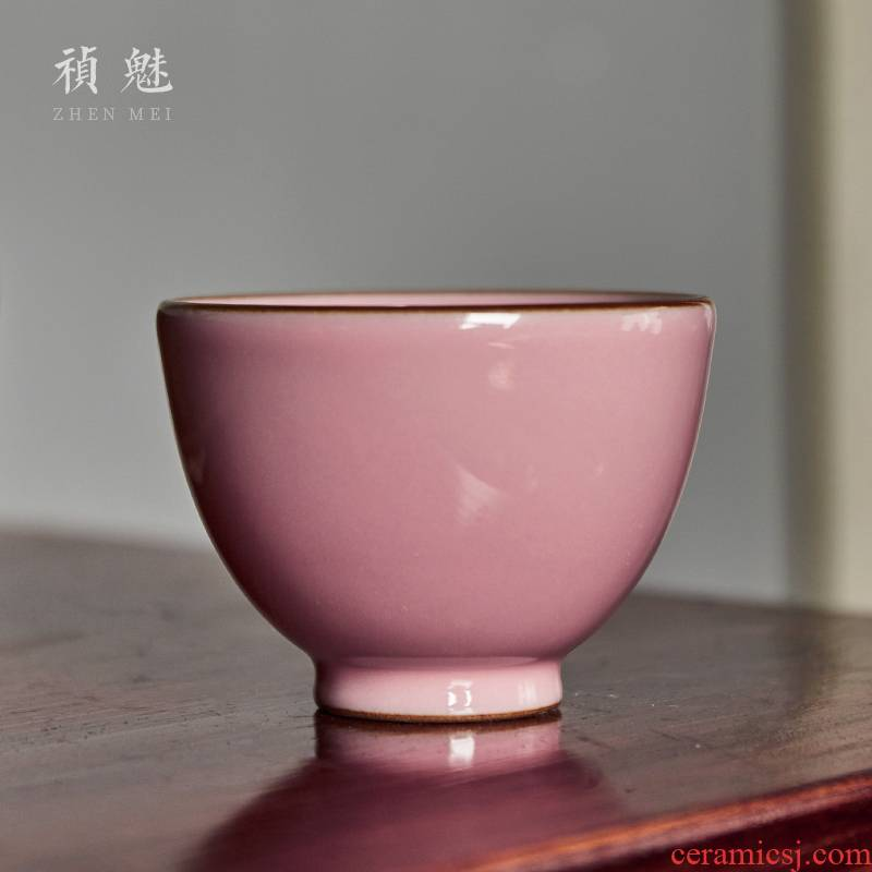 Shot incarnate the manual your up peach kung fu tea cups of jingdezhen ceramic tea set personal sample tea cup master cup single CPU