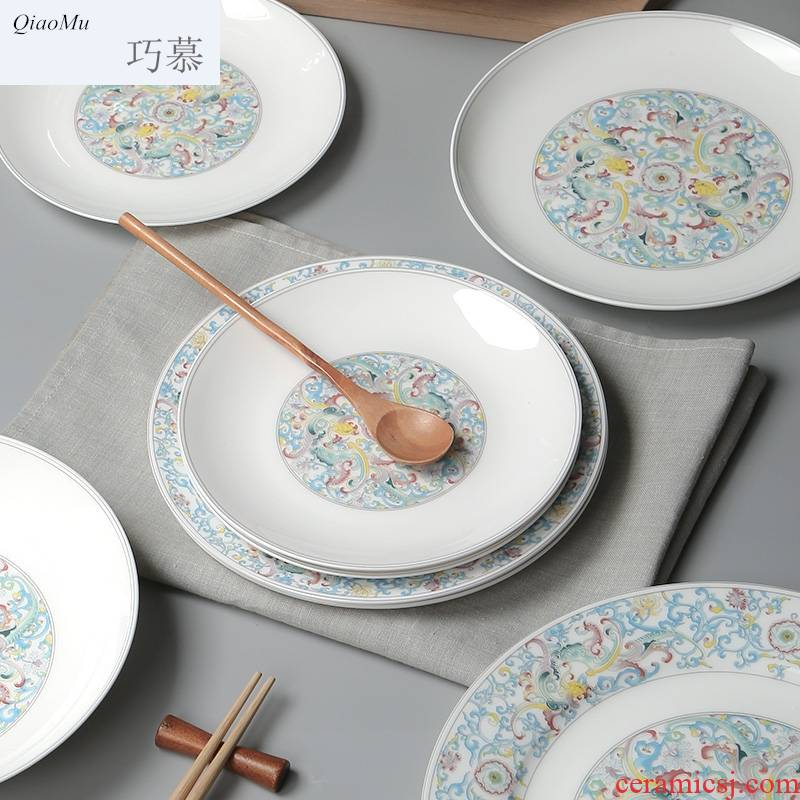 Qiao longed for Chinese style household dish dish dish creative good - & tableware ceramic platter ipads deep dish plates dish dishes