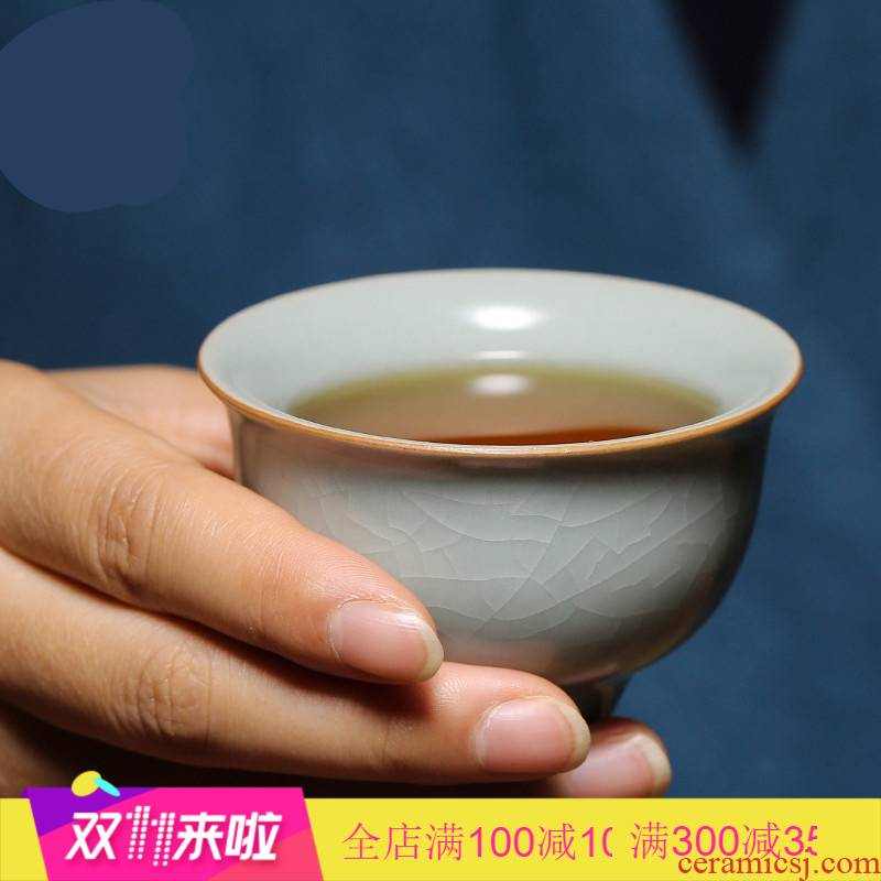 . Poly real boutique scene. Open the slice your up with jingdezhen ceramic sample tea cup tea cups can raise the master cup single CPU S