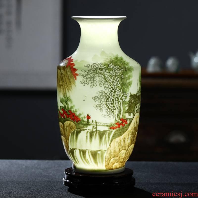 Jingdezhen ceramics floret bottle furnishing articles dried flower arranging flowers Chinese wine sitting room adornment TV ark, crafts