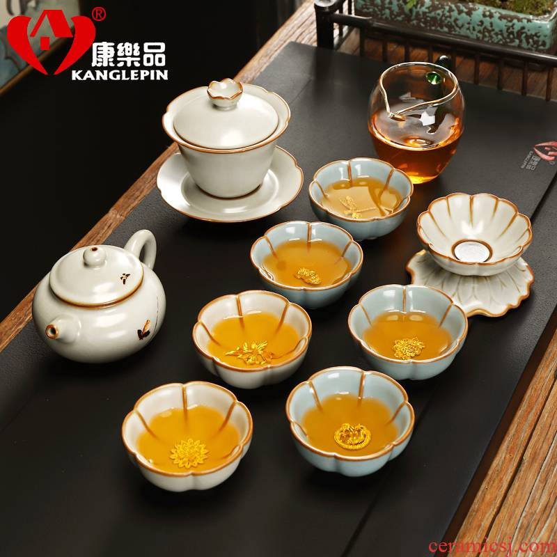 Recreation is tasted your up crack was suit household silver iron tire jingdezhen ceramic office receives a visitor of a complete set of the teapot