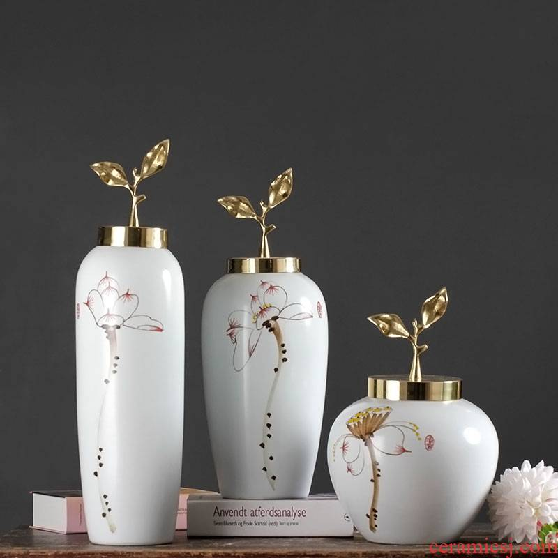 New classic Europe type restoring ancient ways is the sitting room mesa of ceramic vase floral suit place to live in the dried flower decorations