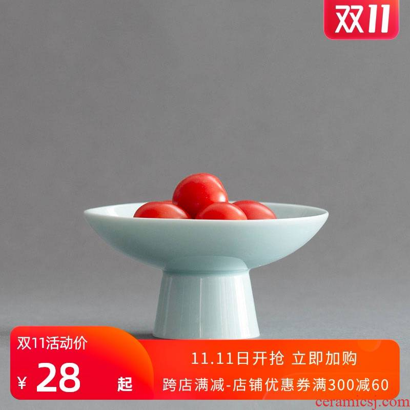 Ultimately responds to Chinese creative Japanese tea saucer ceramic to snack for disc high tea plate compote zen restoring ancient ways