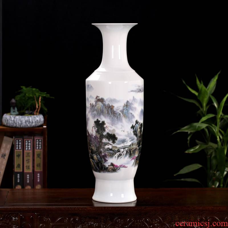 Jingdezhen ceramics I and contracted 70 cm high landing big vase furnishing articles home office sitting room adornment