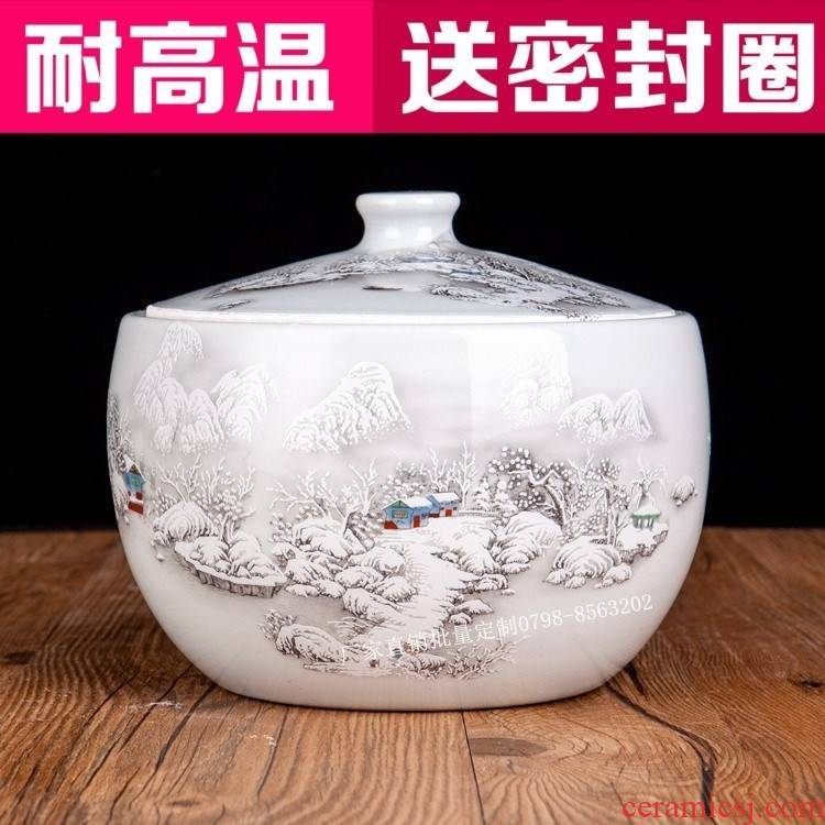 Do wine fermented rice wine containers sealed pot tea ceramic moistureproof save large household pickles tools