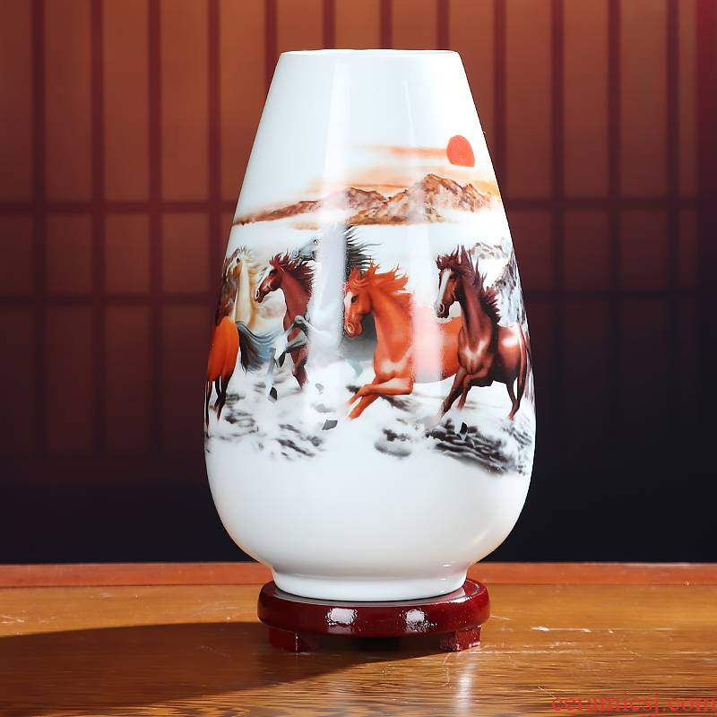 Flower vase of jingdezhen ceramics furnishing articles dried flowers sitting room adornment small creative arts and crafts porcelain Flower decoration