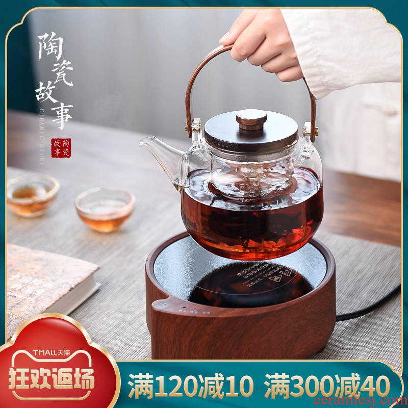 Electric ceramic story TaoLu boiling tea is tea stove'm special small upset the whole glass tea kettle boil the teapot