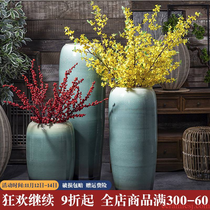 The Big vase furnishing articles flower arranging large sitting room be born American Chinese I and contracted Europe type flower arrangement of jingdezhen ceramics