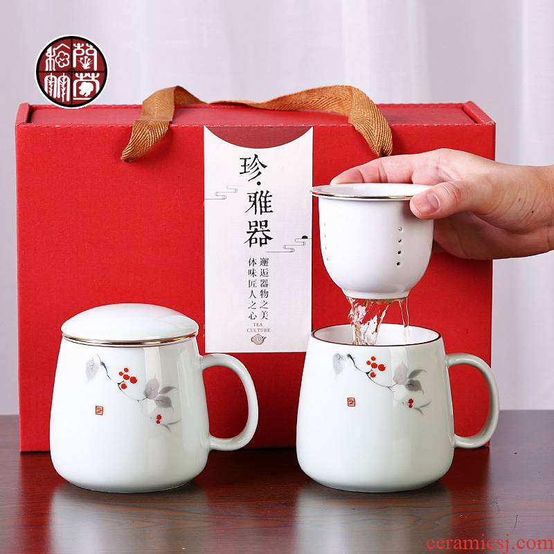Female ceramic cups tea tea cup office separation zone) contracted couples lazy cup keller custom - made