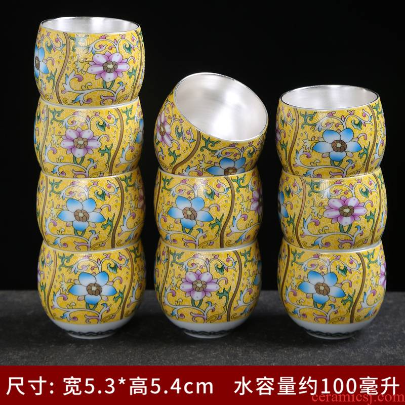 Ceramic colored enamel porcelain cups sample tea cup master cup personal single CPU hat to a cup of tea light cup kung fu tea set