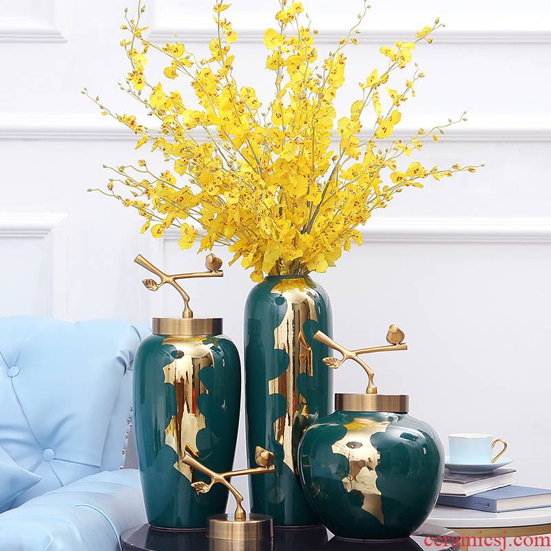 The vase in The Nordic idea contracted decorate small place, a sitting room porch table dry flower, dried flower porcelain porcelain simulation